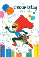Grußkarte Skala Kindergeburtstag Superman Set/5