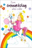 Grußkarte Skala Kindergeburtstag Prinzessin Set/5