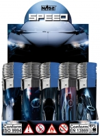 Elektronik Feuerzeug Speed Cars Display/50