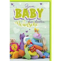 Grußkarten Baby Sternchen Multiset Set/30