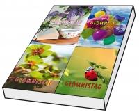 Grußkarten Geburtstag Farbenpracht Set/100