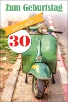Grußkarten Zahlengeburtstag Lebensfreude Multiset Set/30