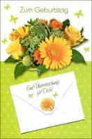 Grußkarten Geburtstag Arosa mit Geldkuvert Set/40